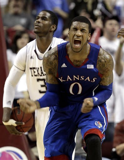 No. 4 Kansas beats Texas A&M 66-58