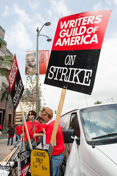 """Fashion Police"" Writers Lead A Picket And Rally At E! TV Headquarters"