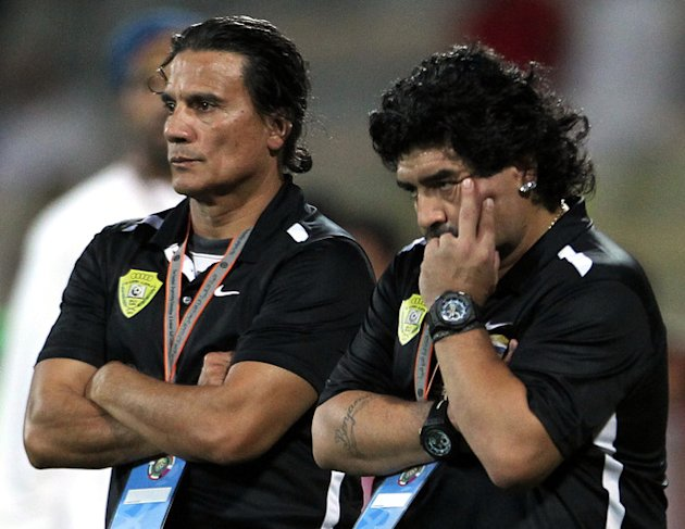 UAE's Al-Wasl Club Coach Diego Maradona Watches AFP/Getty Images