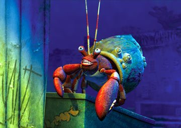 The hermit crab called Crazy Joe in Dreamworks' Shark Tale