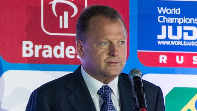 Marius Vizer, head of SportAccord, at the opening ceremony of the IJF World Judo Championship in Rio de Janeiro on August 26, 2013