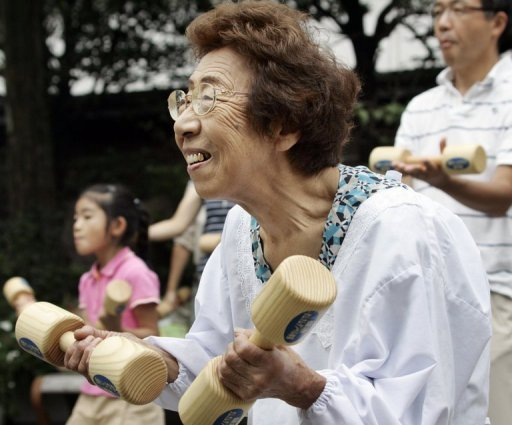 Japanese longevity is attributed in part to a healthy diet and active lifestyle