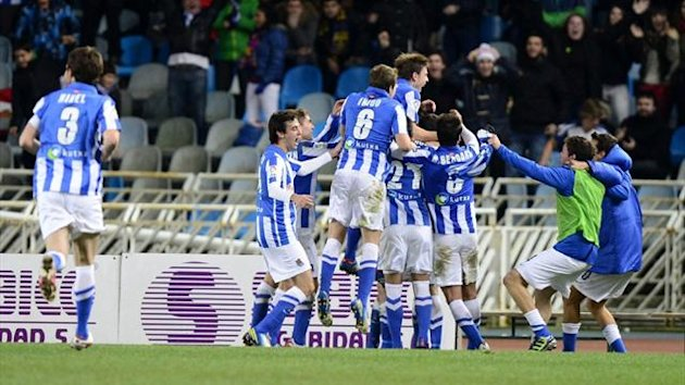 Real Sociedad players celebrate (AFP)