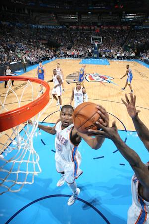 Durant's triple-double leads Thunder over Warriors