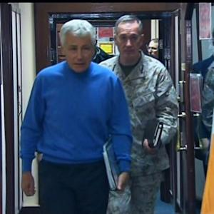 Secretary Hagel makes unannounced trip to Afghanistan