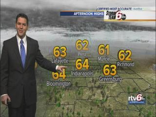 Tuesday's Forecast: Highs in the 60s
