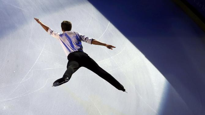 Maxime Kovtun of Russia performs during the gala exhibition at the ISU Bompard Trophy Figure Skating event in Bordeaux