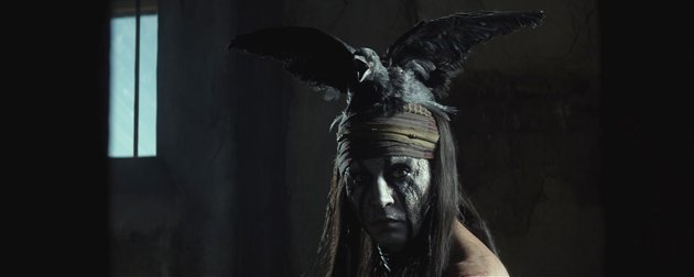 Johnny Depp in 'The Lone Ranger'