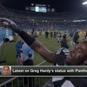 The latest on defensive end Greg Hardy's status with the Carolina Panthers
