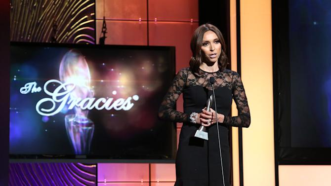 Giuliana Rancic on stage at Sexy Hair Celebrates The Gracies Presented By The Alliance For Women In Media Foundation, on Tuesday, May, 21, 2013 in Beverly Hills, Calif. (Photo by Alexandra Wyman/Invision for Sexy Hair/AP Images)