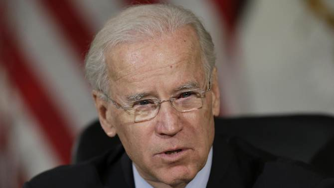 Vice President Joe Biden speaks at Girard College in Philadelphia, Monday, Feb. 11, 2013, after a round table discussion on gun control with elected and law enforcement officials. (AP Photo/Matt Rourke)