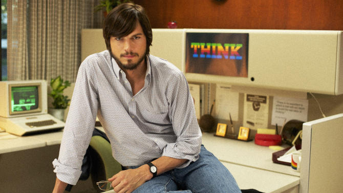 "This undated publicity film image provided by the Sundance Institute shows Aston Kutcher as Steve Jobs in ""JOBS,"" the 2013 Sundance Film Festival's closing night film in January. (AP Photo/Sundance Institute)"