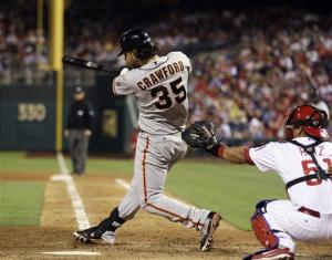 Crawford, Lincecum lead Giants over Phillies