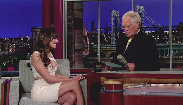 Lea Micheleappears on CBS's 'Late Show With David Letterman' where she talks about the 14 tattoos she has as well as the upcoming season finale of her hit tv show 'Glee' USA - 21.0