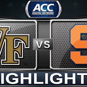 Wake Forest vs Syracuse | 2013 ACC Football Highlights
