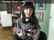 I Got Boob Cancer (a ditty), written and performed by the author, Michelle Ward, on YouTube