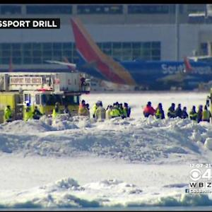 Massport Holds Ice Rescue Drill At Logan Airport