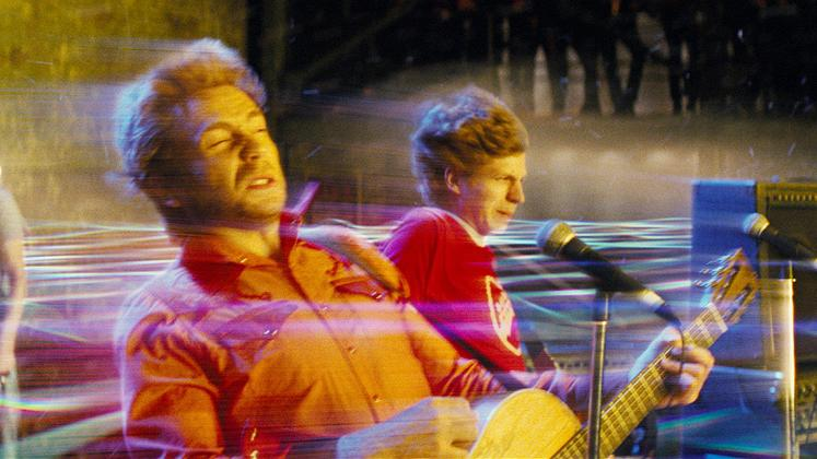 Scott Pilgrim vs the World 2010 Production Photos Universal Pictures Johnny Simmons Mark Webber Michael Cera