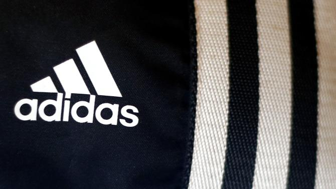 File photo of Adidas logo in a store in Munich