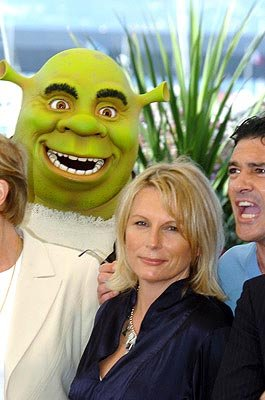Jennifer Saunders doesn't know her head is about to be eaten by Antonio Banderas Shrek 2 Cannes Film Festival - 5/15/2004