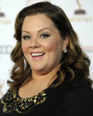 "FILE - In this Sept. 16, 2011 file photo, Melissa McCarthy poses at the 63rd Primetime Emmy Awards Performers Nominee Reception in Los Angeles. McCarthy was nominated Tuesday, Jan. 24, 2012 for an Academy Award for best supporting actress for her role in ""Bridesmaids."" (AP Photo/Chris Pizzello, file)"