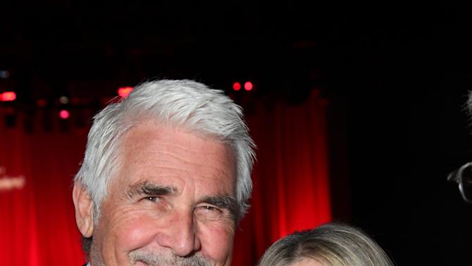 FILE - In this Nov. 8, 2011 file photo originally released by Cedars-Sinai Medical Center, actor James Brolin, left, and his wife Barbra Streisand pose at the Cedars-Sinai Board of Governors Gala at The Beverly Hilton Hotel in Beverly Hills, Calif. Streisand attended a fundraiser for President Barack Obama on Thursday, May 10, 2012, hosted by actor-activist George Clooney at his Studio City, Calif., home. (AP Photo/Cedars-Sinai Medical Center, Alex J. Berliner)