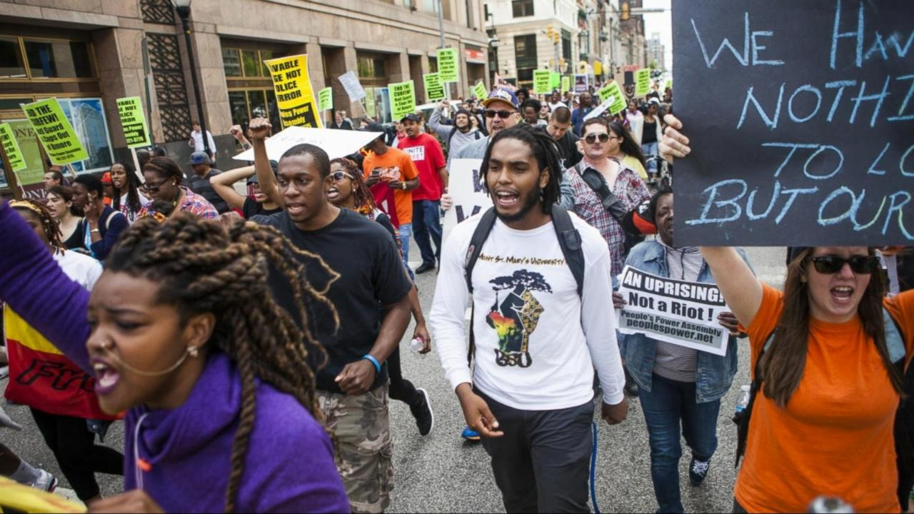 Baltimore Demonstrators Hopeful After 6 Officers Charged in Freddie Gray's Death