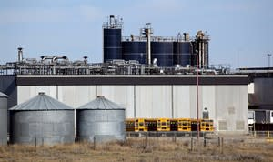 The XL Foods cattle processing plant is shown in Brooks, Alta., Thursday, Oct. 18, 2012. THE CANADIAN PRESS/Jeff McIntosh