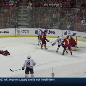 Roberto Luongo Save on Patrick Sharp (19:15/1st)