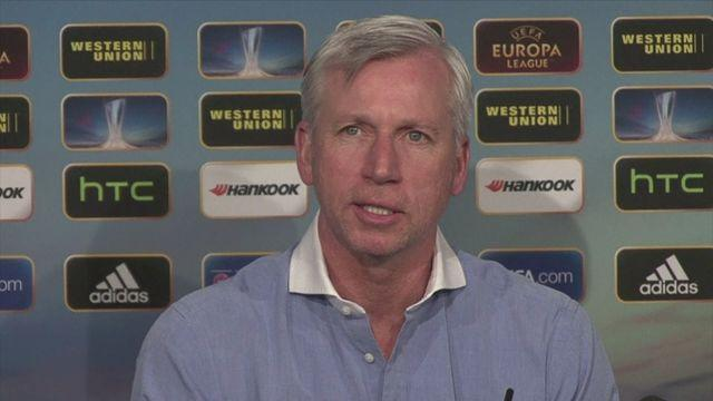 Pardew targets Europa League turnaround against Benfica [AMBIENT]