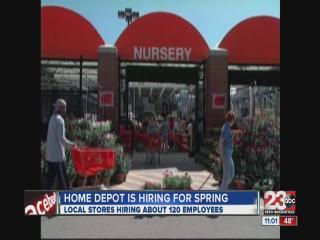 Home Depot hiring for Spring