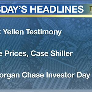 Yellen Testimony, Home Prices, JP Morgan Chase Investor Day All Part of Markets Focus