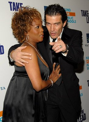 Alfre Woodard and Antonio Banderas at the NY premiere of New Line Cinema's Take the Lead