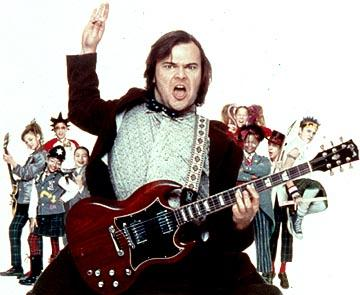 Rebecca Brown , Aleisha Allen , Robert Tsai , Miranda Cosgrove , Jack Black , Caitlin Hale , Maryam Hassan , Joey Gaydos Jr. and Kevin Clark in Paramount's The School of Rock