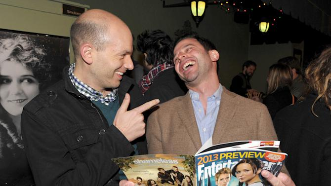 "IMAGE DISTRIBUTED FOR ENTERTAINMENT WEEKLY - Actor Paul Scheer, left, and actor/comedian Nick Kroll attend an exclusive screening of Comedy Central's ""Kroll Show"" hosted by Entertainment Weekly on Tuesday, January 15, 2013 at LA's Silent Movie Theatre in Los Angeles. (Photo by John Shearer/Invision for Entertainment Weekly/AP Images)"
