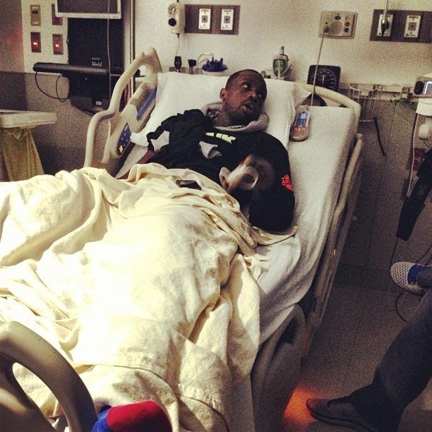 luol deng hospital bed