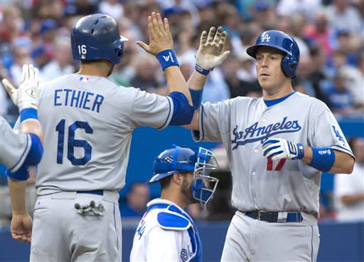 Ellis has 5 RBIs, Dodgers rout Blue Jays 14-5