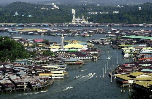 <p>This file photo shows an overview of a part of Bandar Seri Begawan, the capital of Brunei, in 2000. Twelve military personnel including six cadets were killed in a Brunei air force helicopter crash while flying home after jungle training, a spokesman said on Saturday.</p>