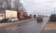 Russia: Drivers Stuck In 120-Mile Traffic Jam