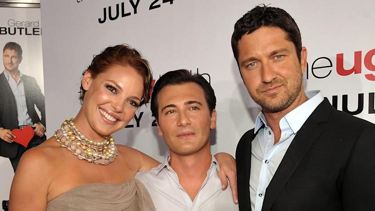 The Ugly Truth LA Premiere 2009 Katherine Heigl Robert Luketic Gerard Butler