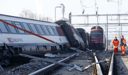 Swiss train collision caused by stop signal being ignored: operator
