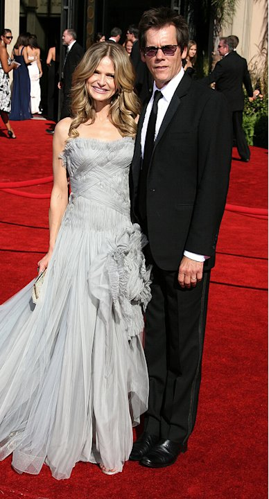 Kyra Sedgwick and Kevin Bacon at The 58th Annual Primetime Emmy Awards. 