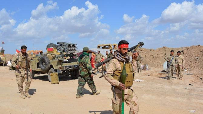 Some 30,000 Iraqi troops and militia are taking part in the offensive to retake the northern city of Tikrit from Islamic State militants on March 2, 2015