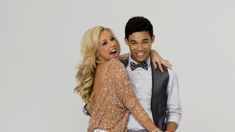 "Roshon Fegan teams with professional dancer Chelsie Hightower on Season 14 of ""Dancing With the Stars."""