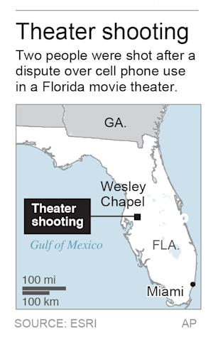 Map locates Florida town where theater shooting occurred.; 1c x 3 inches; 46.5 mm x 76 mm;