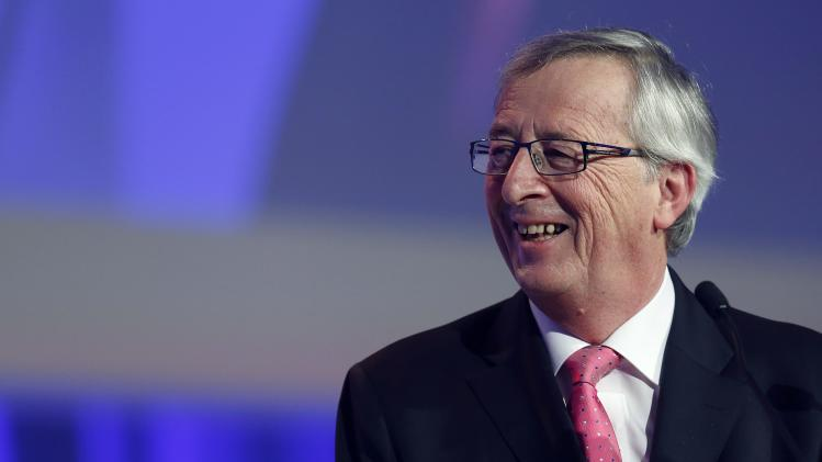 Former Luxembourg PM Juncker reacts in Dublin