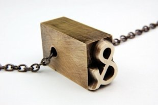 Antique Letterpress Necklace