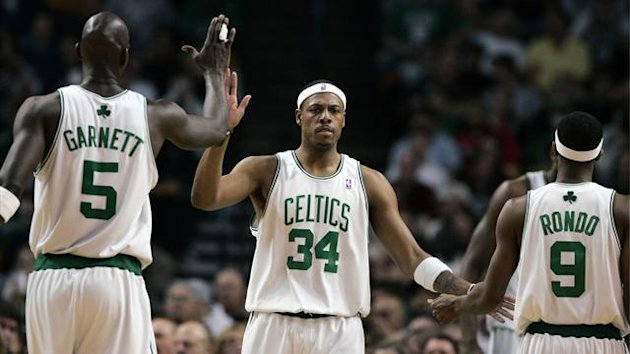 Boston Celtics, Kevin Garnett, Paul Pierce, Rajon Rondo (AP/LaPresse)