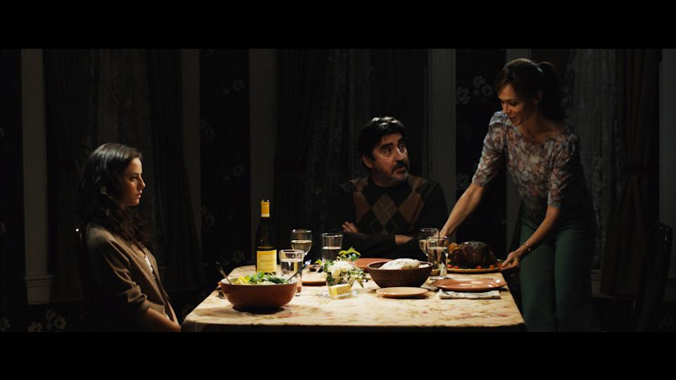 "This undated publicity photo provided by the Sundance Institute shows, from left, Kaya Scodelario, Alfred Molina, and Frances O'Connor in a scene from the film, ""Emanuel and the Truth About Fishes,"" included in the U.S. Dramatic Film competition at the 2013 Sundance Film Festival. (AP Photo/Sundance Institute)"