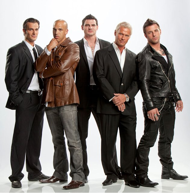 "Jimmy, Vin, Steven, Brace, and NIck in ""Gigolos."""